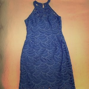 Blue Lilly Pulitzer lace dress